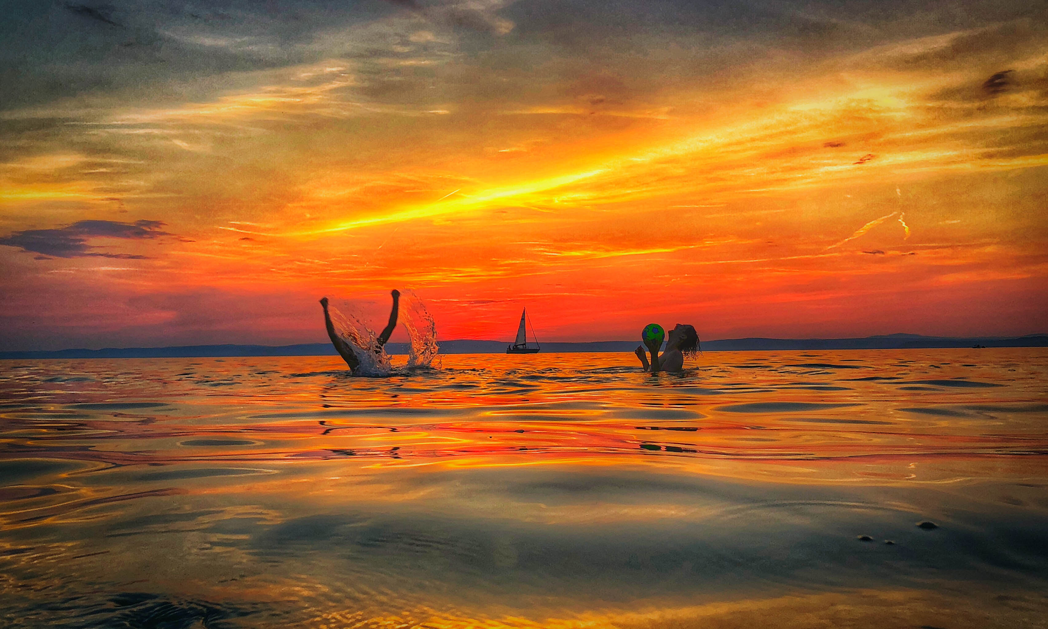 Four Sunsets at Lake Balaton